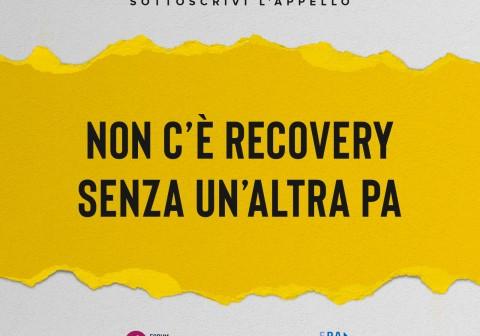 """Recovery Plan: """"Questa è la strada per riformare le PA e rispondere ai bisogni dei cittadini. Basta parlare d'altro"""""""